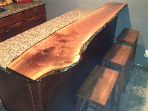 live edge black walnut bar top basement ideas