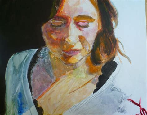 acrylic painting yupo painting a portrait with acrylic on yupo paper
