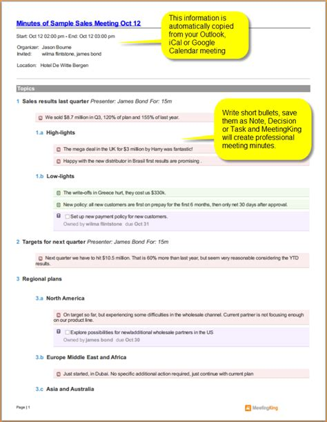 4 sle meeting minutes template teknoswitch