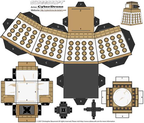 Dalek Papercraft - cubee special weapons dalek by cyberdrone on deviantart