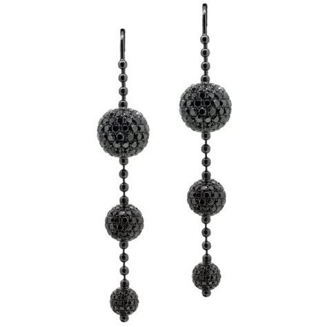 shamballa jewels 18ct black gold black drop