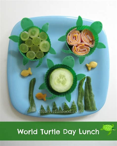 Day 5 Turtles by World Turtle Day Lunch Creative Food My