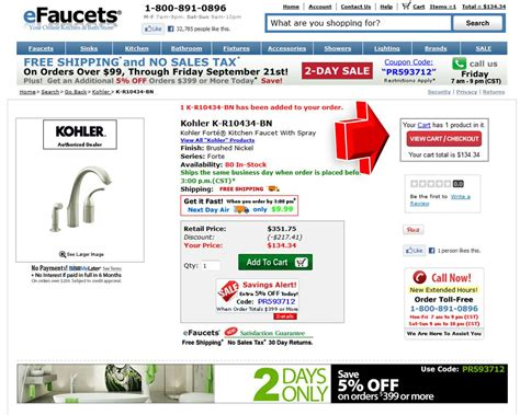 Coupon Code For Faucet by Efaucets Coupon Promo Code