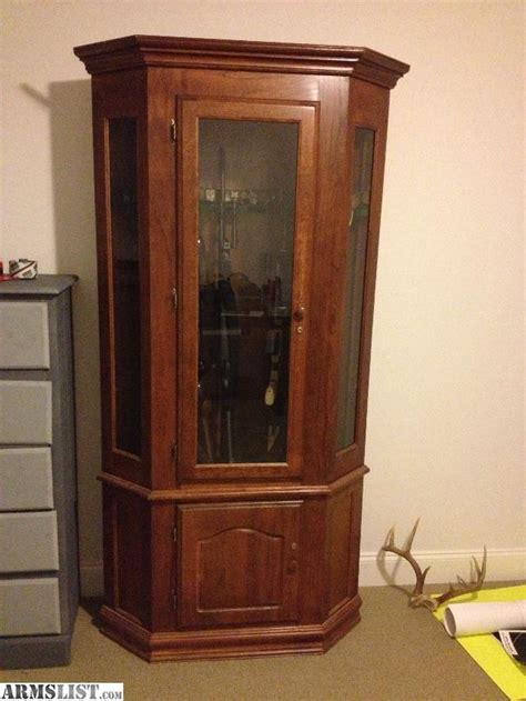 armslist for trade beautiful cherry corner gun cabinet