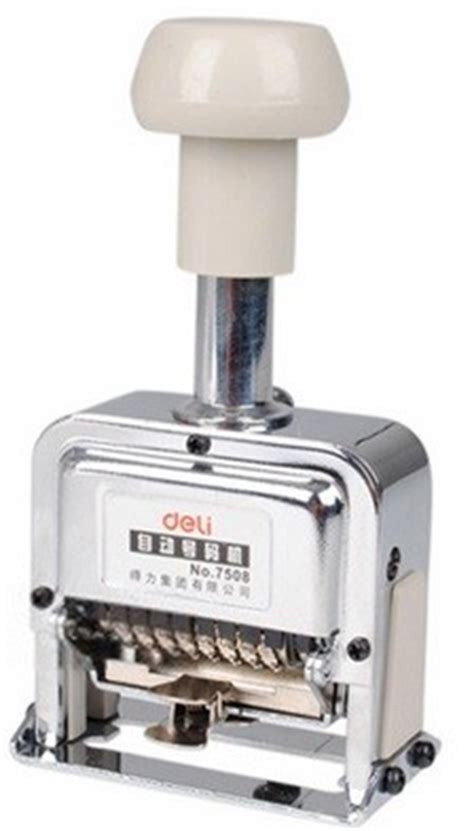 deli 7508 automatic numbering machine 8 digits metal