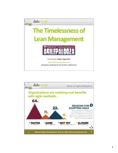 Mba Lean Management by Timelessness Of Lean Management