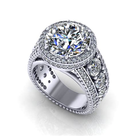 3 Engagement Ring by 3 Carat Halo Engagement Ring Jewelry Designs