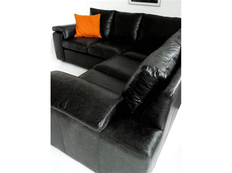 black leather corner settee black leather corner sofa sirocco living room sofas