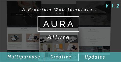 what is a muse template aura multipurpose premium muse web template by