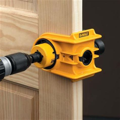 How To Drill A Locked Door Knob by Dewalt Door Knob Lock Install Holesaw Bi Metal Wood Drill