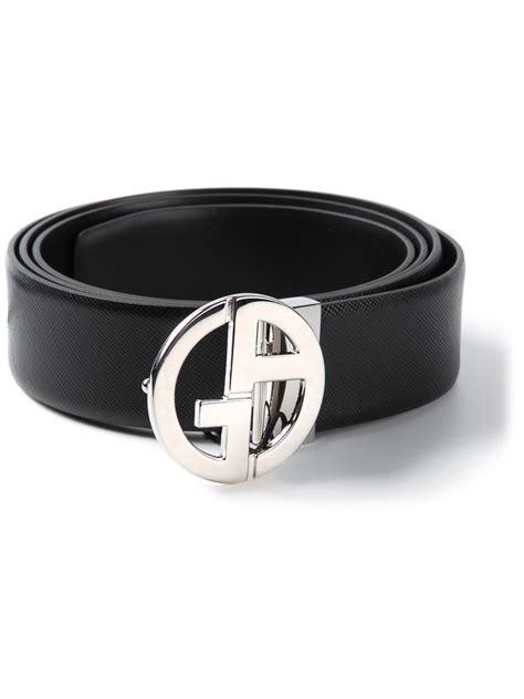 Giorgio Armani Belt Ax006 giorgio armani logo belt in black for lyst