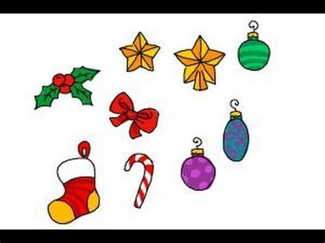 how to draw christmas decorations youtube