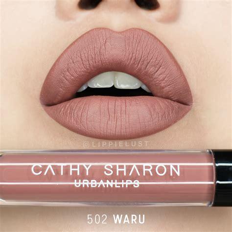 Cathy Urbanlips Waru swatches review box x cathy lip lippielust