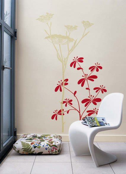 flower design on wall fantastic decorations with beautiful floral wall stencils