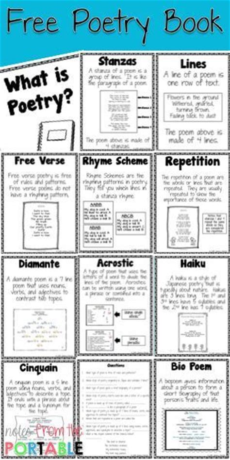 free templates for poetry books 6310 best images about 3rd grade common core on pinterest