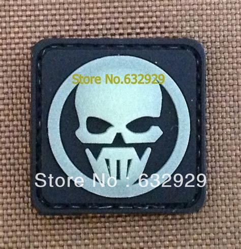 Patch Rubber Pvc Resmob Teks Ghost Rubber Patch Custom Pvc Velcro Patch Back Glow In