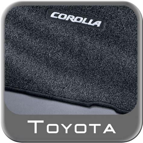 Toyota Echo Floor Mats by 2001 2002 Toyota Corolla Carpeted Floor Mats Black