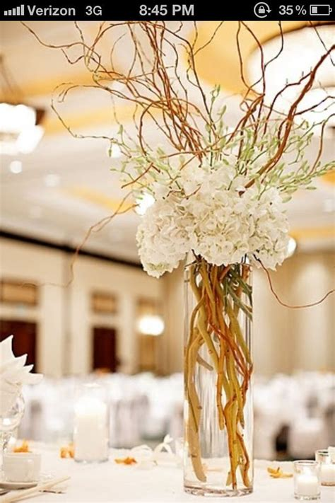 hydrangea curly willow centerpiece google search