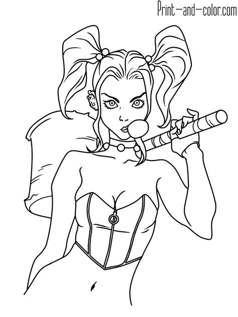 harley quinn coloring pages harley quinn coloring pages print and color