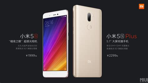 xiaomi mi 5s and 5s plus with snapdragon 821 launched in china