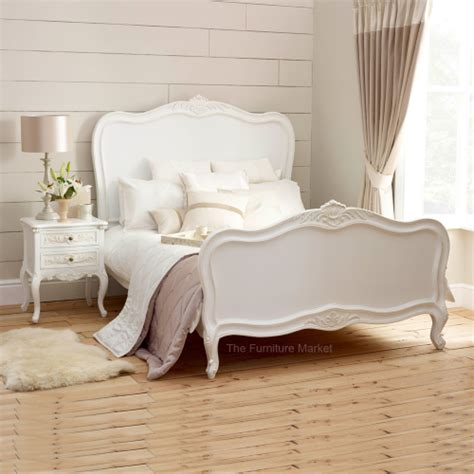 white king size bedroom furniture french chateau white painted 5ft king size panel bed