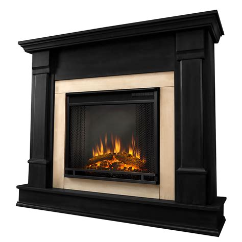 silverton electric fireplace mantel package in black