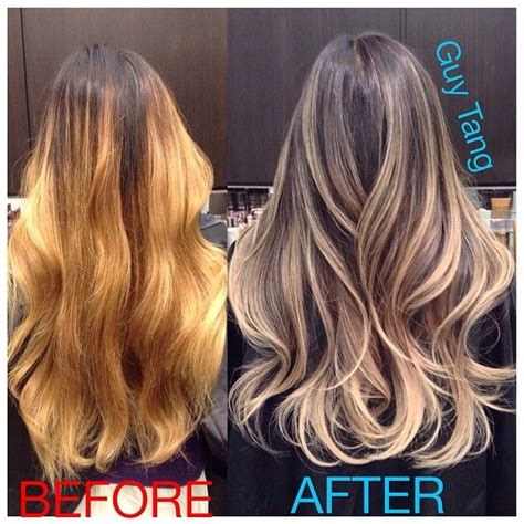 guy tang hair before and after dry damaged hair to beautiful color correction badombre