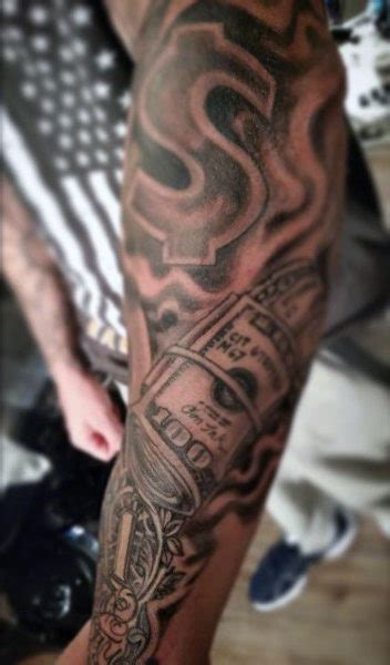 money tattoo sleeve 50 money tattoos for wealth of masculine design ideas