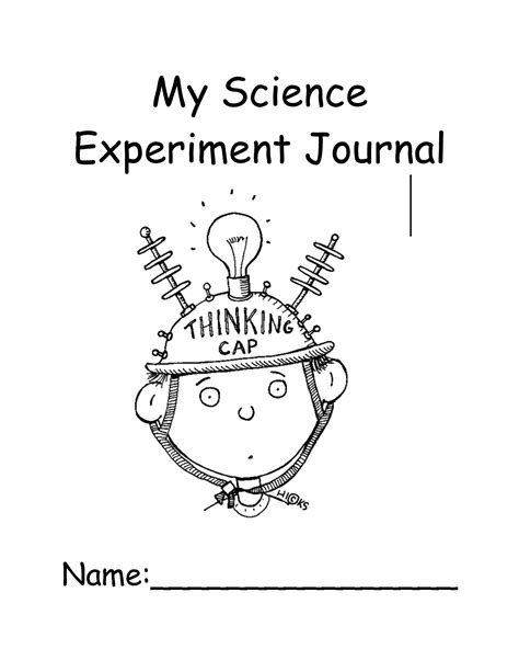 project journal template 6 best images of science journal printable cover