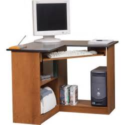 Workstation Computer Desk Corner Computer Workstation Oak And Black Walmart
