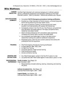 Best It Resume Sle by Www Flight Attendant Resume Sales Attendant Lewesmr