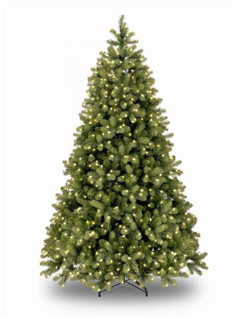 8ft pre lit bayberry spruce feel real artificial christmas