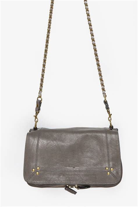 Ct953bby Baguette Fashion Import Flap Chain Gray jerome dreyfuss bobi from sydney by white paire shoptiques