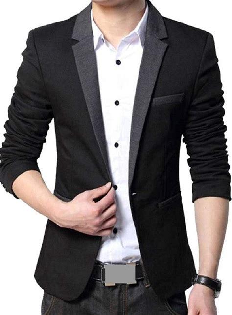 Blazer Pria Korean Style Navy Blue mens blazer suit go suits