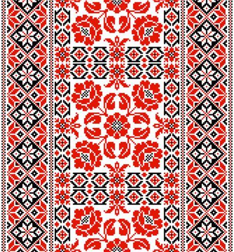 ukraine pattern vector ukrainian styles embroidery patterns vector set 05