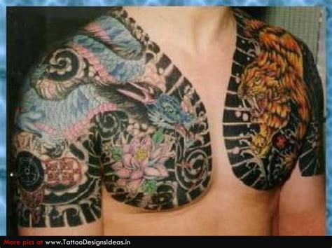 chest tattoo asian colored asian tattoos on man chest