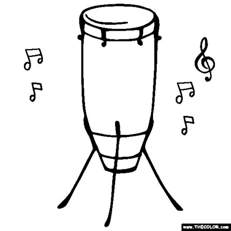 african instruments coloring page musical instruments coloring pages page 2