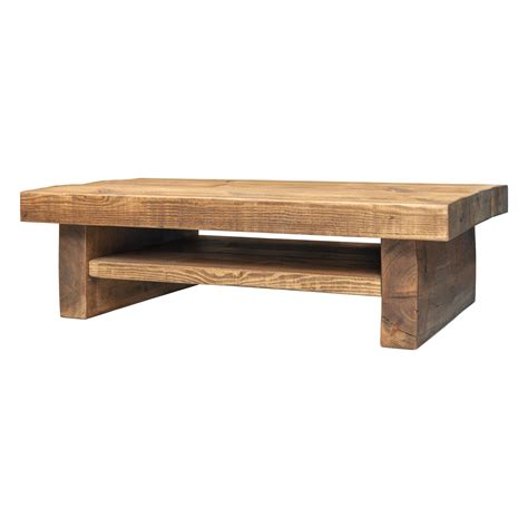 Coffee Table With Shelf   Low 3 Inch Top 2 Leg   Funky