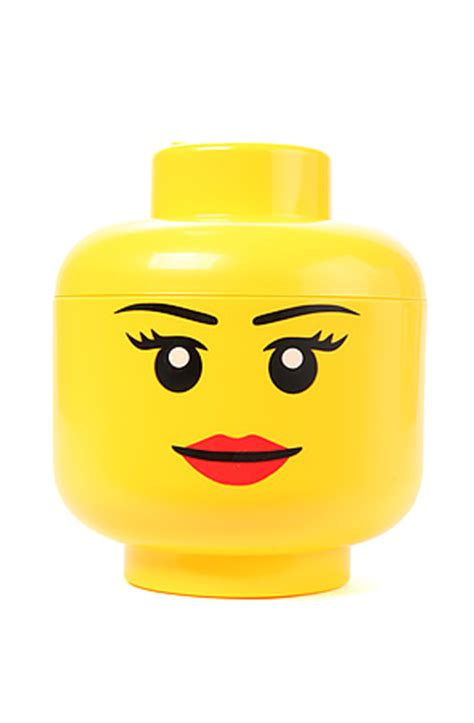 lego storage house decor face in yellow karmaloop com