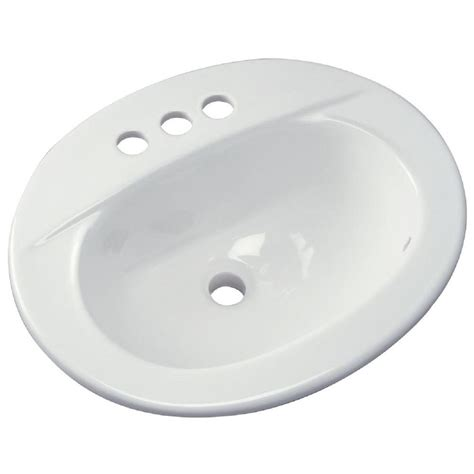 home depot drop in bathroom sinks zurn drop in bathroom sink in white z5114 the home depot