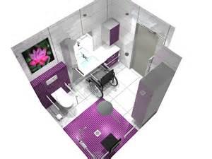 dessin 3d d une salle de bain pour pmr personnes 224