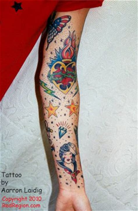 tattoo in arm ditch traditional sleeve ditch view tattoo by aarron laidig