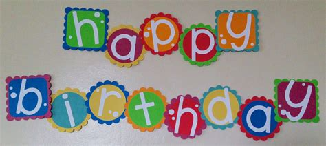 How To Make A Happy Birthday Banner Of Paper - birthday banner being genevieve
