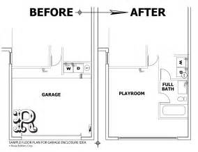 garage floor plans with living space garage conversions enclosures to increase living space