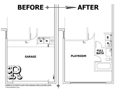 convert garage to apartment floor plans garage conversion floor plans 2 car garage conversion