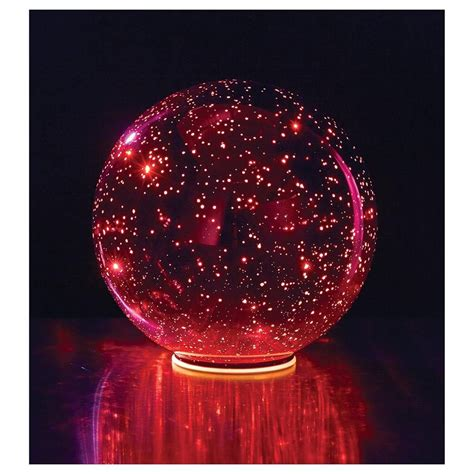 lighted mercury glass ball sphere red ebay