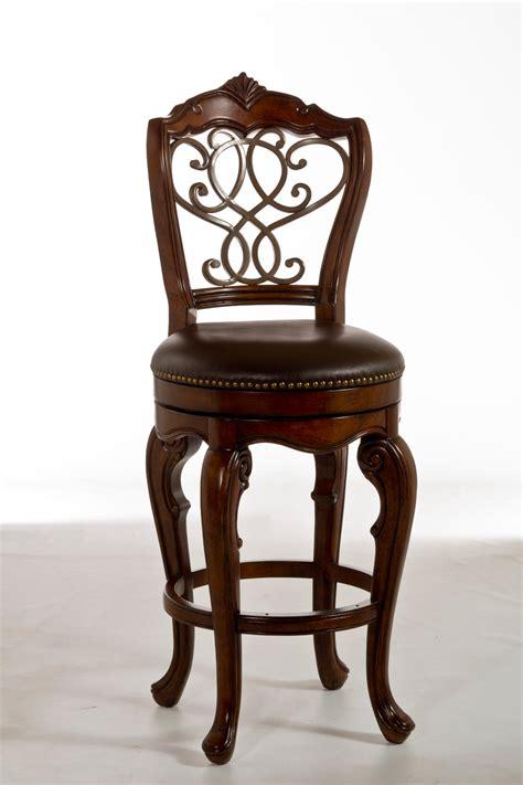 hillsdale burrell swivel bar stool brown 5170 830