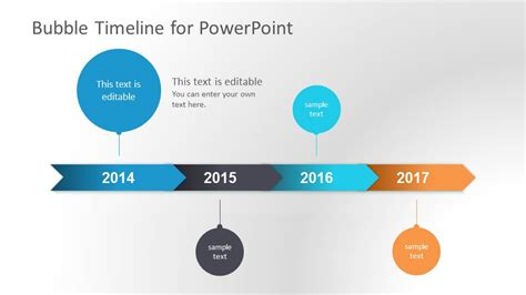 Bubble Timeline Powerpoint Template Slidemodel Timeline Graphics For Powerpoint