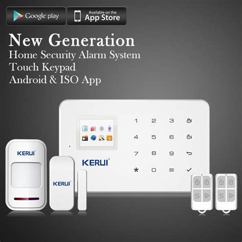 kerui wireless phone app gsm alarm system home security