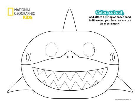 printable shark mask template almanac 2018